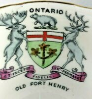 Vintage Tea cup saucer Old Fort Henry Ontario Souvenir Royal Stafford England