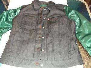New York Jets Nike NFL Team Apparel Womens Levi's jean jacket M