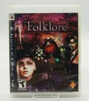 Folklore (Sony PlayStation 3, PS3 2007) Complete in Box CIB Super Clean Copy