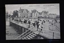 alte AK Seebad Swinemünde Blick von der Seebrücke in Pommern