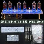 IN-14 DIY KIT Nixie Tubes Clock [RGB USB Musical] [WITH TUBES] 12/24H GRA & AFCH