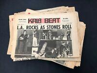 KRLA Beat Vtg Music Newspaper Magazine Lot of 18  Beatles Rolling Stones Dylan