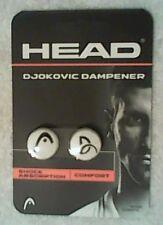 NEW Head Novak Djokovic Button Style Dampener Tennis Dampner White