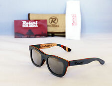 New! RALERI Long Board Sunny 180° 1313Unisex Wayfarer Sunglasses Wood frame