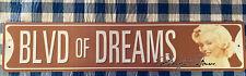 Marilyn Monroe Blvd of Dreams metal street sign