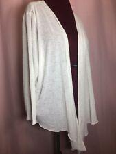 White Tie Front Cardigan Sweater Cascade Size 3x 26 28w Bolero by Catherines