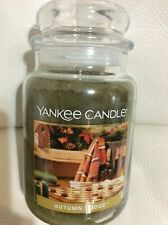 Yankee Candle Autumn Lodge Large Jar 22oz NEW!  Free Shipping Green Woodsy
