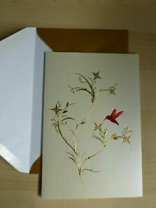 Gorgeous Papyrus Cards High Quality RED Hummingbird - All Occasions card