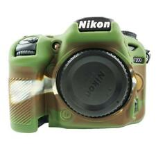 Silicone Case Camouflage Soft Protective Skin f Nikon D7100,D7200 Fits All Lens