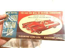 Vintage Mattel XP-1960 Dream Car-Box Only HTF