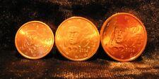 Monnaie 1,2,5 centimes cent cts euro France 2004, neuves du rouleau, UNC