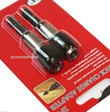 2PC QUICK CHANGE SNAP HEX DRIVER ADAPTER MAGNETIC SCREWDRIVER EXTENSION  BIT