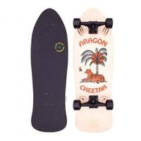 "Z-Flex Aragon Cheetah 80's Frog Cruiser Complete Skateboard 33"", Cream"