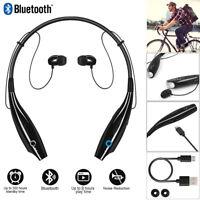 Stereo Wireless Bluetooth Headphone Headset Mic Earphones Neckband Earbuds Sport