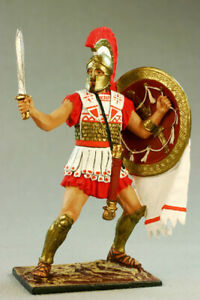 Painted Tin toy soldier 54mm. Athenian hoplite, 490 BC