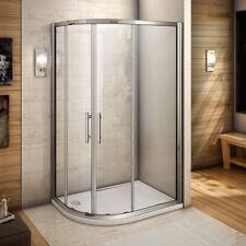 900x800 Quadrant Shower Enclosure Cubicle Left Entry Corner Screen Tray&Waste