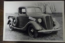 """12 By 18"""" Black & White PICTURE 1937 Ford Pickup truck front view"""