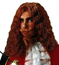 Ginger Red Mens Musketeer Wig Cavalier French Fancy Dress Zorro 16th D'artagnan