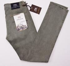NWT $425 PT05 PANTALONI TORINO Washed Moss Green Denim Jeans Slim-Fit 28 PT01
