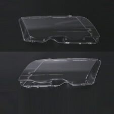 New Headlight Lamp Lenses Plastic Covers Set for BMW 3 Series E46 98-01 US-Stock
