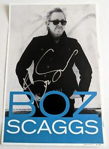 TERRIFIC Boz Scaggs SIGNED 12x18 Personality Poster with HUGE Silver Autograph!