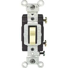 50 Pk Leviton 15A 120V Illuminated Toggle Single Pole Light Switch C21-05501-LHI