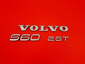 2001-2006 VOLVO S60 2.5T REAR TRUNK LID EMBLEM BADGE SYMBOL LOGO SIGN SET OEM 07