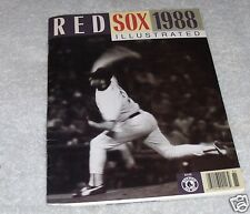 Vtg Boston Red Sox 1988 Illustrated Yearbook Fenway Park Roger Clemens On Cover
