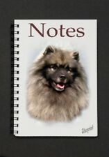 Keeshond Dog Notebook/Notepad with a small image on every page - by Starprint