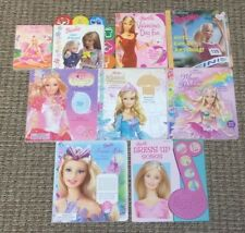Lot of 9 BARBIE BOARD BOOKS Fairytopia Princesses Play-a-Sound SWAN LAKE More