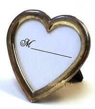 "Small Heart Shaped Silver Frame 2.75"" Wide & Tall New"