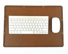 Marlondo Leather Desk Pad - Small Tobacco Brown Leather Blotter - Overstock SALE