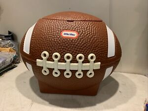 RARE Little Tikes Football Toy Box Chest Hamper Cooler LID STILL ATTACHED! Clean