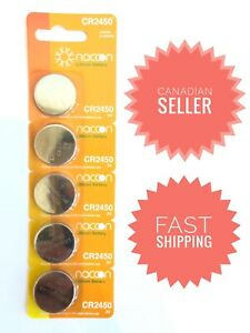 5 pcs CR2450 3V Lithium Batteries cell coin button battery