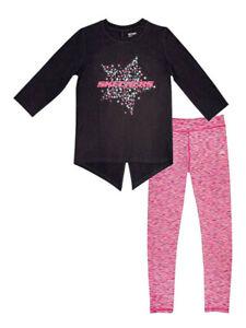 Skechers 2-Piece Girls 3/4 Sleeve Graphic Tee + Legging Set