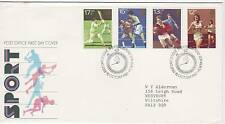 GB Stamps First Day Cover Sports Centenaries, boxing, rugby  SHS Stopwatch 1980