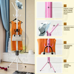 12 Hooks Coat Clothes Cloth Rack Hat Umbrella Stand Tree Hanger Hook Carbon Stee
