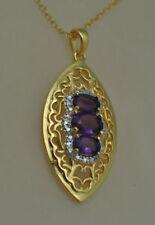 Gold Amethyst Sterling Silver Fine Jewellery