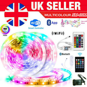 RGB 5050 LED Strip Lights Color Changing - Smart Lighting with Wifi & Bluetooth