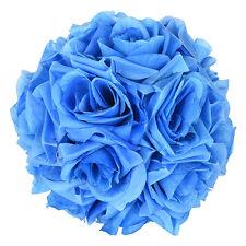 Kissing Ball Silk Rose Bouquet 6-inch Flower Pomander Wedding Pew Shower 5Pc Lot