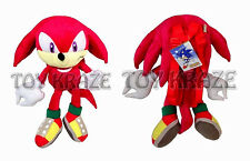 "KNUCKLES PLUSH BACKPACK! RED SONIC THE HEDGEHOG SOFT DOLL FIGURE XL 18"" NWT"