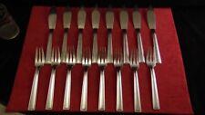 Ménagère à poisson 16 couverts en métal argenté Ravinet Denfert modèle Art Déco