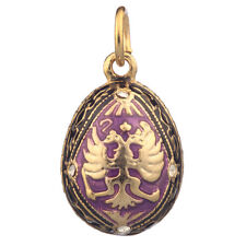 Faberge Egg Pendant / Charm with Russian Double Headed Eagle 2.1 cm #1701-05