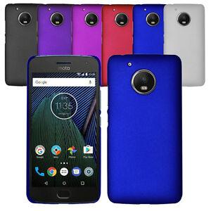 For Motorola Moto G5 Slim Thin Hybrid Hard Case Clip On Cover & Screen Protector