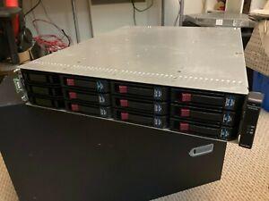"""HP StorageWorks MSA2000 2012i iSCSI 12 Bay 3.5"""" Disks 6 x 750GB 3x 1TB"""