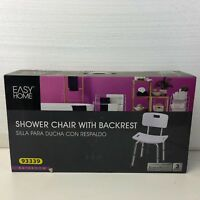 Easy home Shower Chair has removable Back rest, adjustable legs, wide seat. New
