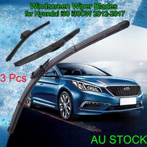Windscreen Wiper blades for Hyundai i30 i30CW 2012-2017 GD GD2 front + rear 3PCS