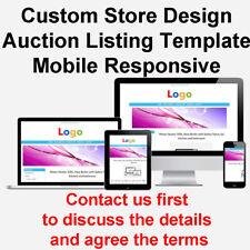 Custom eBay Shop Store Design Auction Listing Template - Must Read Description