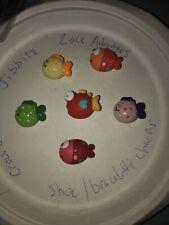 3D  Funny Colorful Fish Lot Of 6 Crocs Shoe,Bracelet,Lace Adapter Charms,Jibbitz