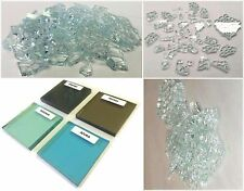 """2 Lbs. Broken Tempered Glass for Craft/Art Projects - SMOKE (grey), 1/4"""" Thick"""